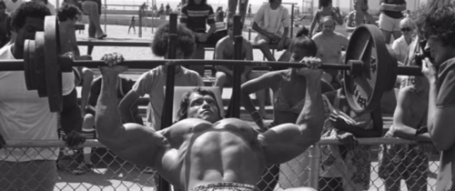 Arnold Incline Barbell Press Outdoors