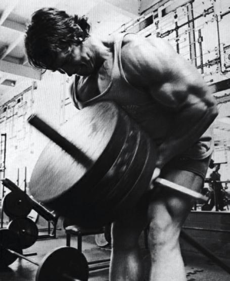 Arnold Schwarzenegger Bodybuilder T-Bar Row