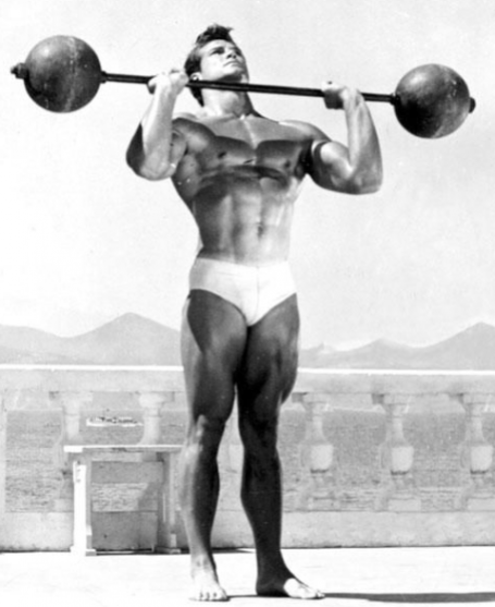 Barbell Standing Overhead Press Steve Reeves