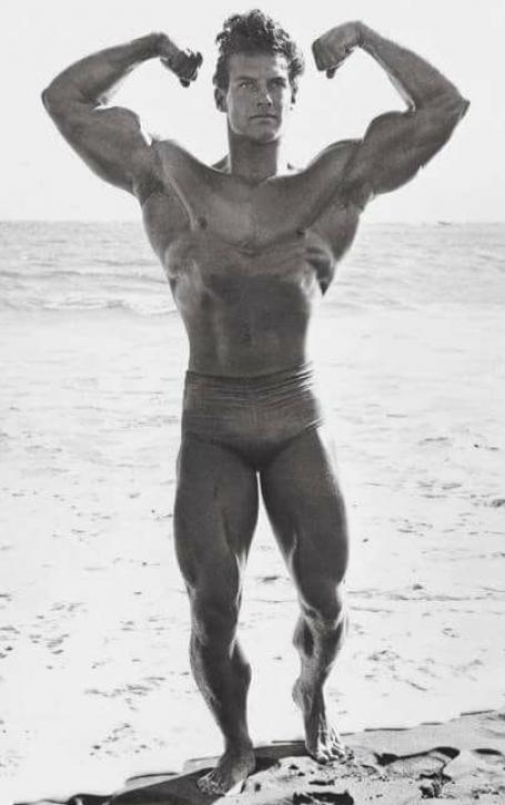 Steve Reeves Biceps Peak Front Bodybuilding Pose