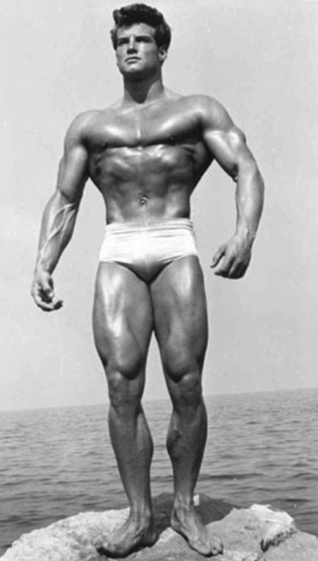 Steve Reeves Relaxed Bodybuilding Pose Reverse-T Shape Chest