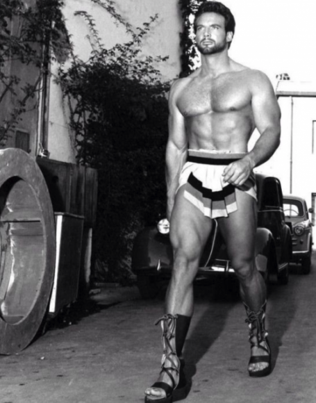 Steve Reeves Walking Outside
