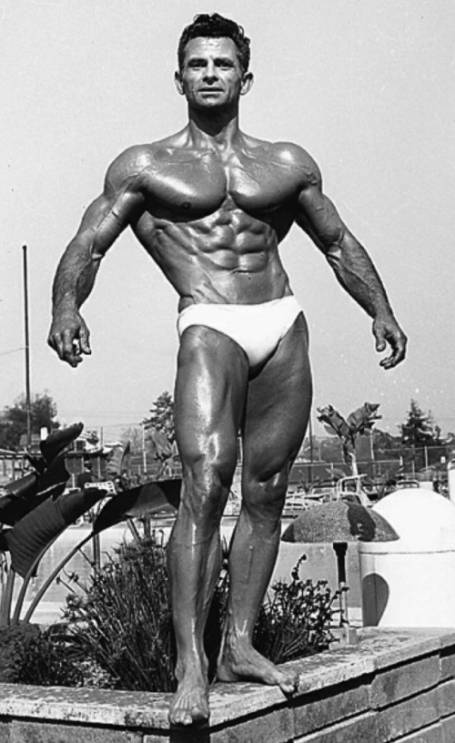 Vince Gironda Classic Ripped Bodybuilding Pose